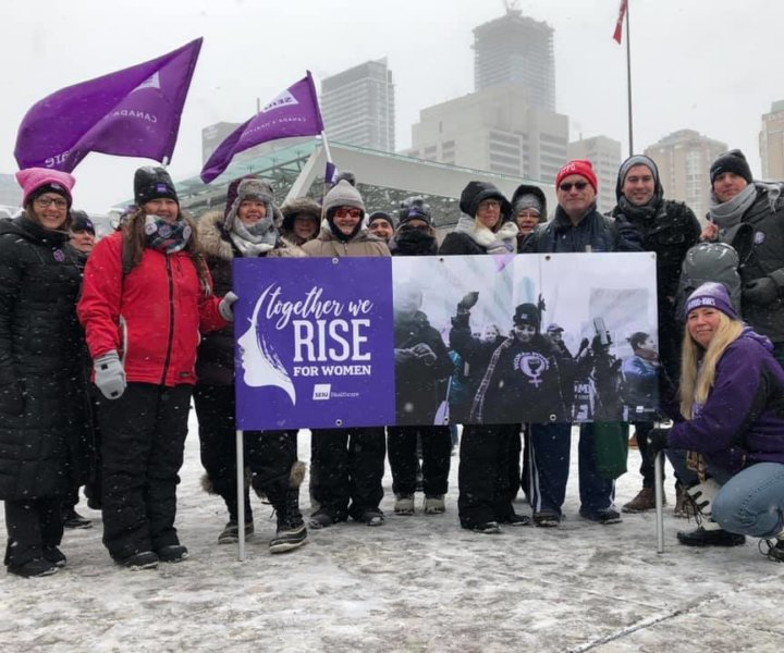 SEIU Healthcare members and their families participated in Women Marches, which were held across the province on January 19, 2019.