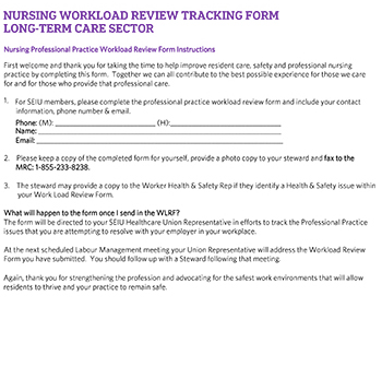 LTC Workload Tracking Document
